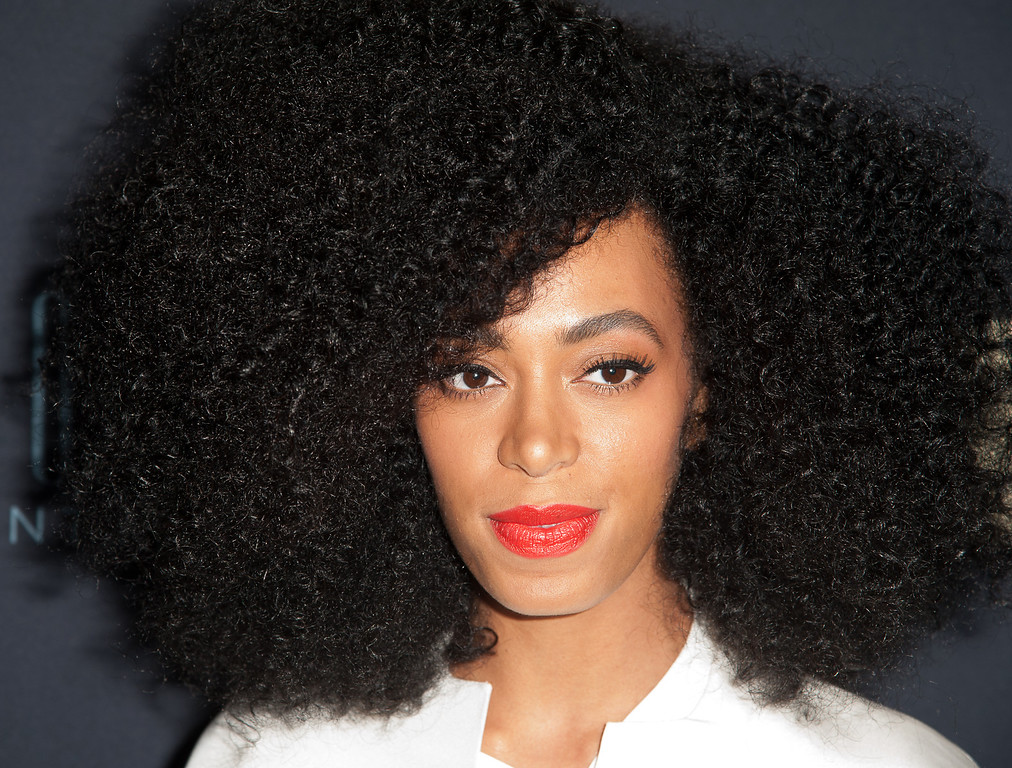 """. NEW YORK, NY - FEBRUARY 12:  Solange Knowles attends  \""""Beyonce: Life Is But A Dream\"""" New York Premiere  at Ziegfeld Theater on February 12, 2013 in New York City.  (Photo by Dave Kotinsky/Getty Images)"""