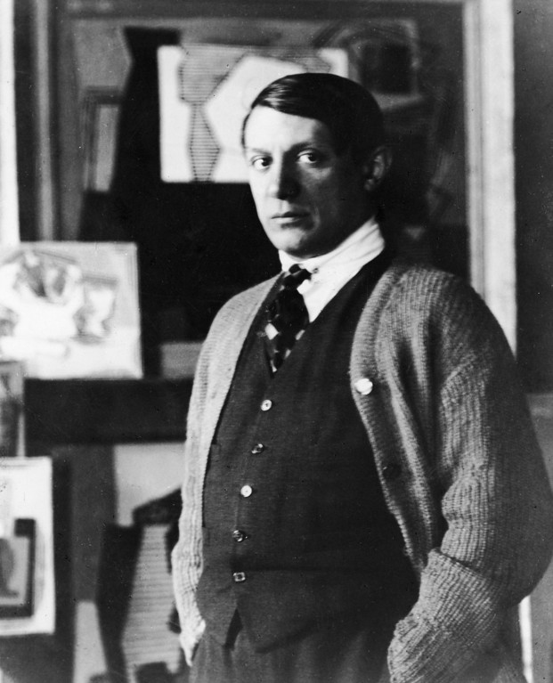 . Portrait of Spanish painter Pablo Picasso (1881 - 1973) standing in his studio, 1920s. (Photo by Hulton Archive/Getty Images)