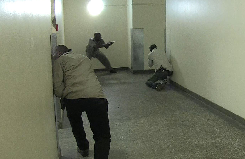 . An image grab taken from AFP TV shows Kenyan security forces taking position inside a shopping mall following an attack by masked gunmen in Nairobi on September 21, 2013.  AFP PHOTO/AFPTV/NICHOLE Sobecki/AFP/Getty Images