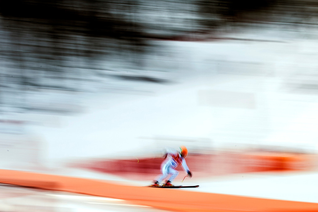 . KRASNAYA POLYANA, RUSSIA  - JANUARY 9: Bulgaria\'s Georgi Georgiev competes in the Men\'s Downhill race at Rosa Khutor Alpine Center during the 2014 Sochi Olympic Games Sunday February 9, 2014. Georgiev finished in 36th place with a time of 2:12.49.  (Photo by Chris Detrick/The Salt Lake Tribune)