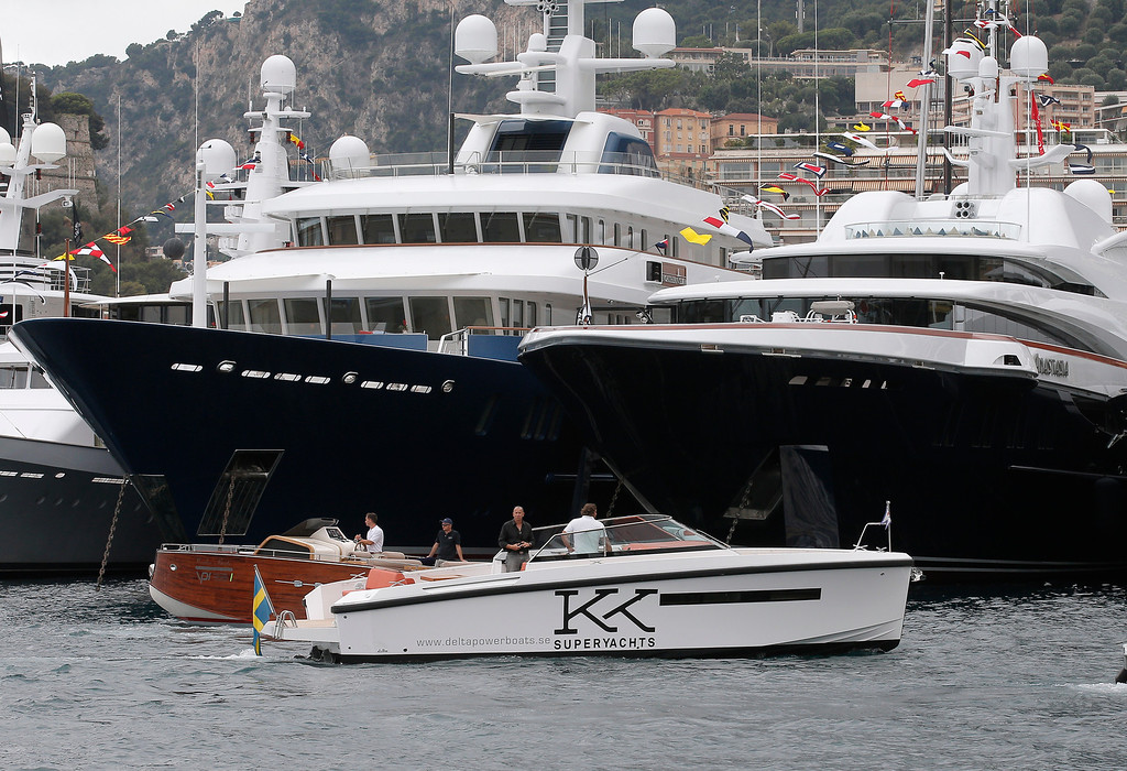 . Yachts at the 24th edition of the Monaco Yacht Show, Wednesday, Sept. 25, 2013, in Monaco. (AP Photo/Lionel Cironneau)