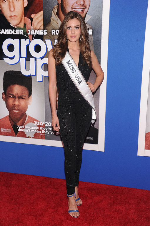 ". Miss USA 2013 Erin Brady attends the ""Grown Ups 2\"" New York Premiere at AMC Lincoln Square Theater on July 10, 2013 in New York City.  (Photo by Jamie McCarthy/Getty Images)"