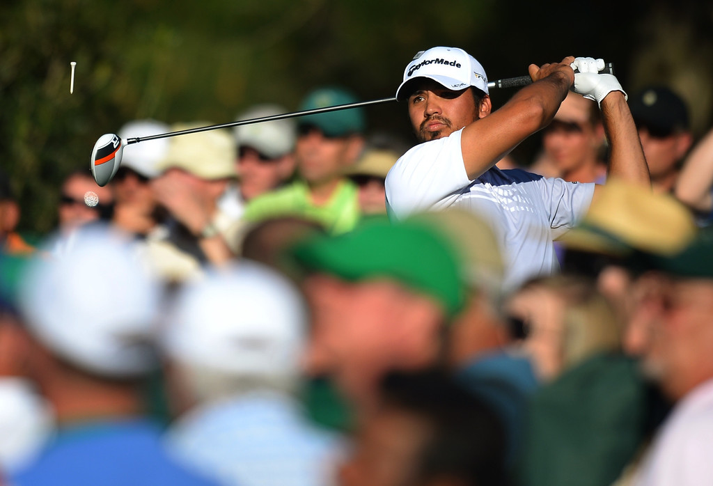 . Jason Day of Australia tees off during the third round of the 77th Masters golf tournament at Augusta National Golf Club on April 13, 2013 in Augusta, Georgia.  JIM WATSON/AFP/Getty Images