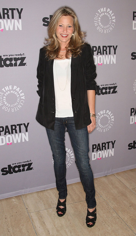 ". Actress Joey Lauren Adams attends the Paley Center for Media Presents ""Party Down\"" on April 21, 2010 in Beverly Hills, California.  (Photo by Frederick M. Brown/Getty Images)"