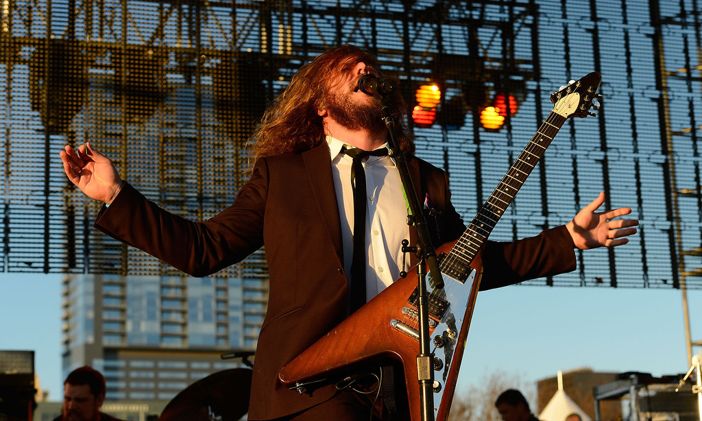 . Singer Jim James performs at the 2013 SXSW Music, Film + Interactive Festival held at the Auditorium Shores on March 15, 2013 in Austin, Texas.  (Photo by Mark Davis/Getty Images for SXSW)