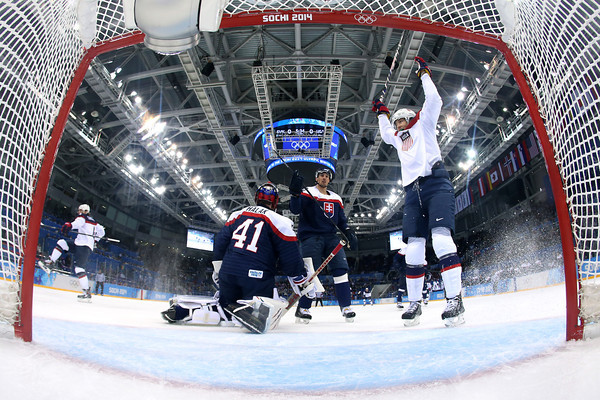 PHOTOS: USA vs Slovakia Men's Hockey At Sochi 2014 Winter Olympics