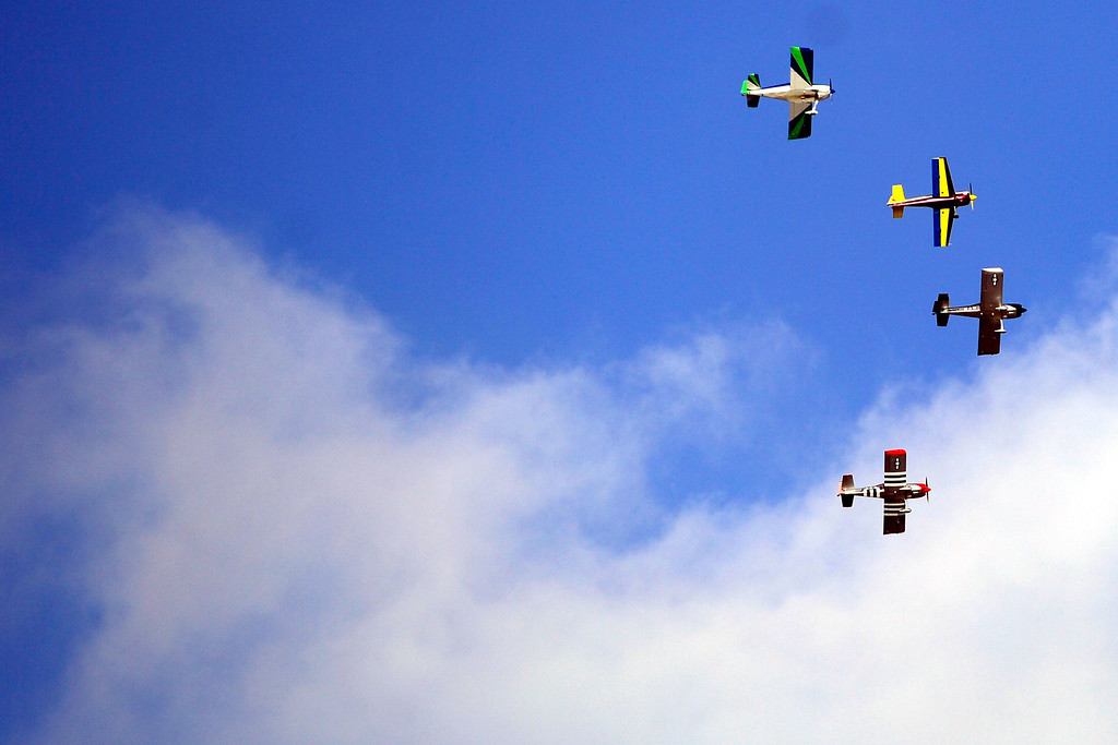 . Planes perform a flyover during the funeral service for Colonel Fitzroy Newsum at Fort Logan National Cemetery on Monday, January 14, 2013. Newsum, who was 94, served as a Tuskegee Airman during his military service. AAron Ontiveroz, The Denver Post