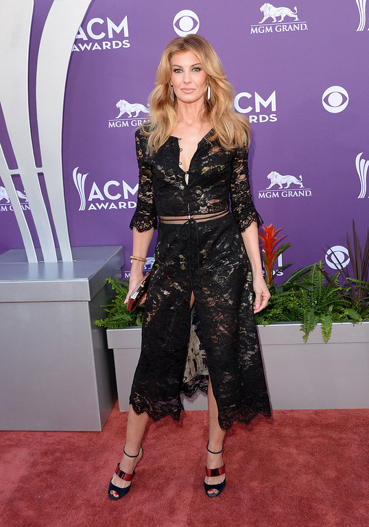 . Singer Faith Hill attends the 48th Annual Academy of Country Music Awards at the MGM Grand Garden Arena on April 7, 2013 in Las Vegas, Nevada.  (Photo by Jason Merritt/Getty Images)