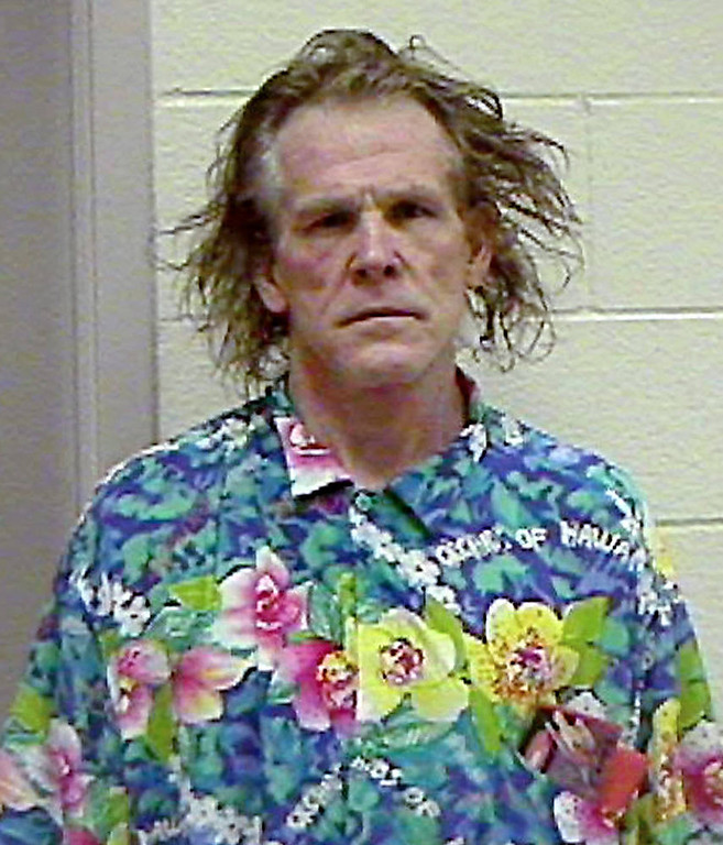 . Nick Nolte is shown in a booking photo released  Sept. 12, 2002, by the California Highway Patrol, taken after his arrest on suspicion of driving under the influence in Malibu, Calif. On Wednesday, Oct.24, 2002 prosecutors filed two misdemeanor counts against the actor: Driving under the influence, and being under the influence of a controlled substance.  The prosecutor\'s office said when arrested, Nolte had elements of a banned substance  gamma hydroxobutrate in his system. (AP Photo/California Highway Patrol, File)