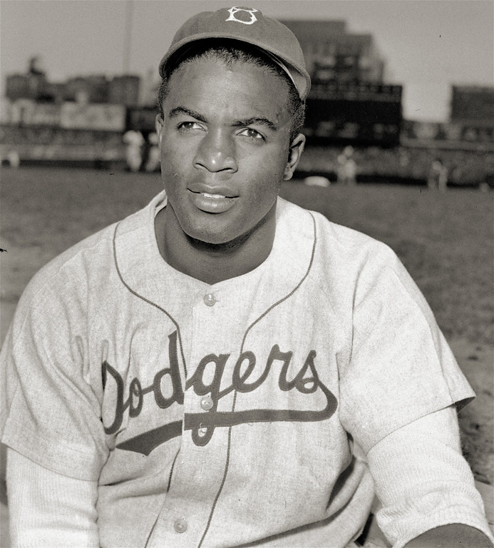 . Jackie Robinson (1919-1972), the first black major league baseball player of the 20th century. He made it in to the Baseball Hall of Fame in 1962. Brooklyn Dodgers\' infielder Jackie Robinson is shown in this April 18, 1948  photo.   (AP Photo)