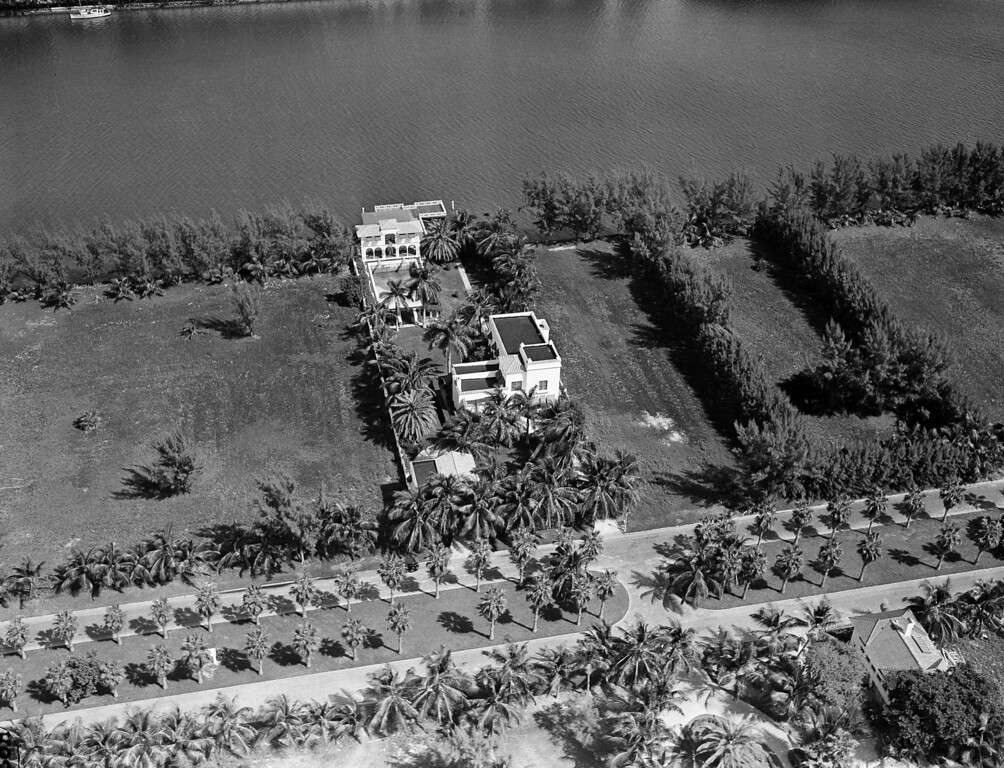 . This is an aerial view of the home of gangster Al Capone in Miami Beach, Fla., seen Oct. 24, 1931.  (AP Photo)