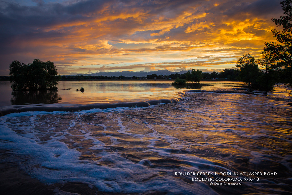 . Our family is drying out, and though the storms leave much sadness, this Boulder Creek sunset brought joy. Photo by Richard Duerksen