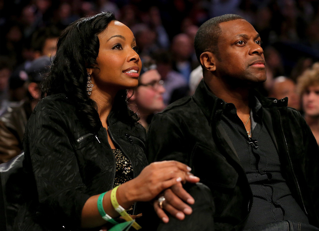 . NEW ORLEANS, LA - FEBRUARY 15:  Chris Tucker attends the Foot Locker Three-Point Contest 2014 as part of the 2014 NBA All-Star Weekend at the Smoothie King Center on February 15, 2014 in New Orleans, Louisiana. (Photo by Ronald Martinez/Getty Images)