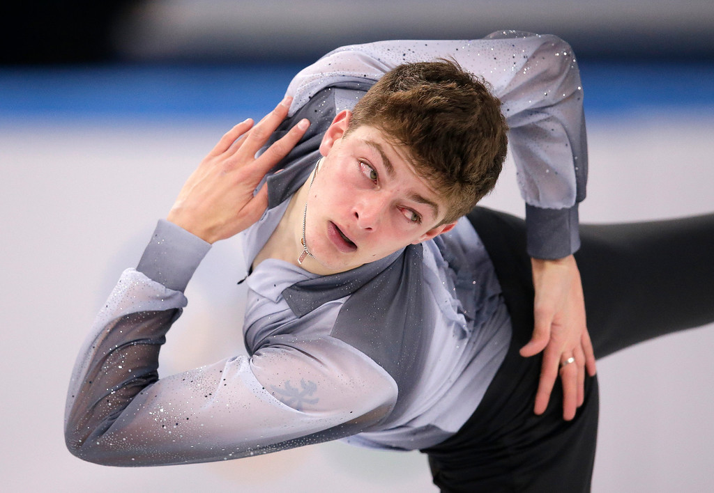 . Brendan Kerry of Australia competes in the men\'s short program figure skating competition at the Iceberg Skating Palace during the 2014 Winter Olympics, Thursday, Feb. 13, 2014, in Sochi, Russia. (AP Photo/Bernat Armangue)
