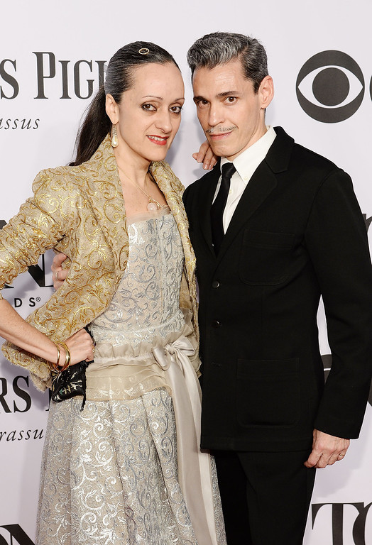 . Designer Isabel Toledo (L) and artist Ruben Toledo attend the 68th Annual Tony Awards at Radio City Music Hall on June 8, 2014 in New York City.  (Photo by Dimitrios Kambouris/Getty Images for Tony Awards Productions)