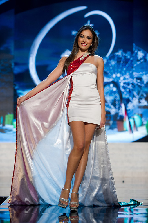 . Miss Italy 2012, Grazia Pinto, performs onstage at the 2012 Miss Universe National Costume Show on Friday, Dec. 14, 2012 at PH Live in Las Vegas, Nevada. The 89 Miss Universe Contestants will compete for the Diamond Nexus Crown on Dec. 19, 2012. (AP Photo/Miss Universe Organization L.P., LLLP)