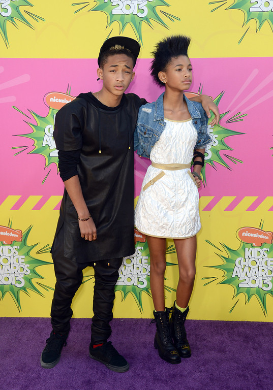 . Jayden Smith, left, and Willow Smith arrive at the 26th annual Nickelodeon\'s Kids\' Choice Awards on Saturday, March 23, 2013, in Los Angeles. (Photo by Jordan Strauss/Invision/AP)