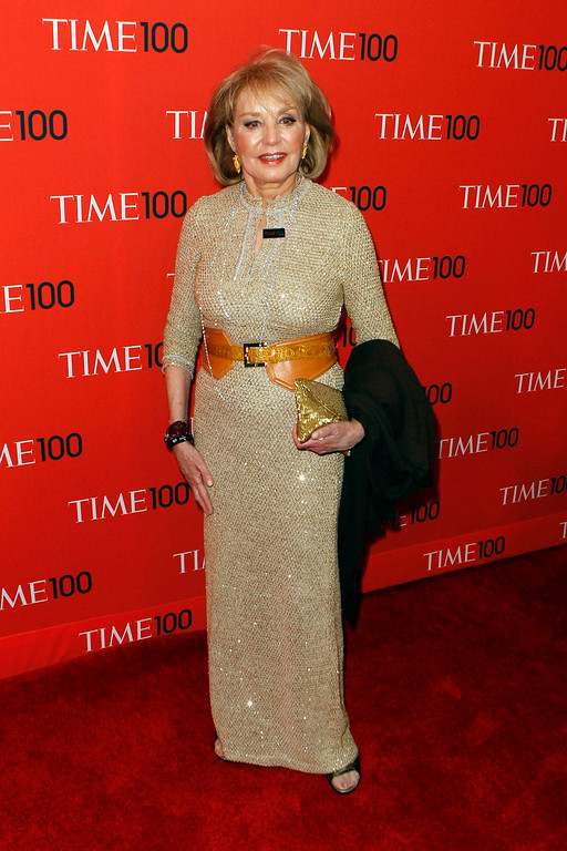 . Journalist Barbara Walters arrives for the Time 100 gala celebrating the magazine\'s naming of the 100 most influential people in the world for the past year, in New York, April 23, 2013. REUTERS/Lucas Jackson