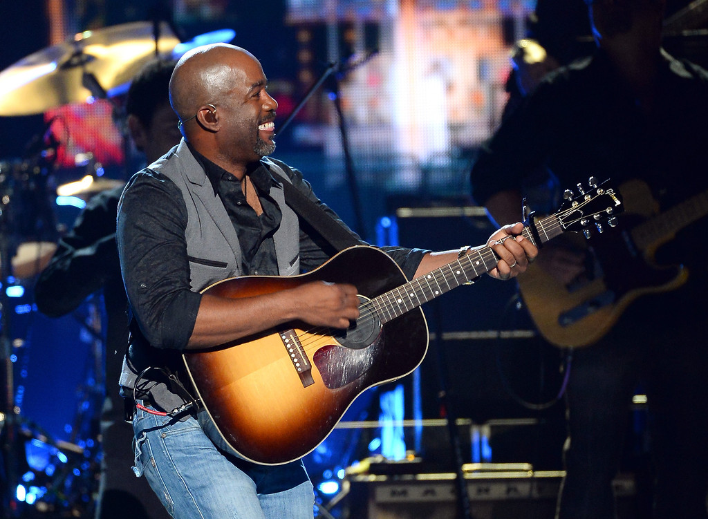 . Singer Darius Rucker performs onstage during the 49th Annual Academy Of Country Music Awards at the MGM Grand Garden Arena on April 6, 2014 in Las Vegas, Nevada.  (Photo by Ethan Miller/Getty Images)
