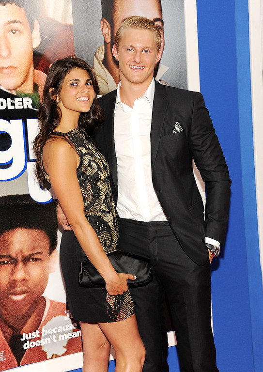 ". Actor Alexander Ludwig and girlfriend Nicole Pedra attend the premiere of ""Grown Ups 2\"" at the AMC Loews Lincoln Square on Wednesday, July 10, 2013 in New York. (Photo by Evan Agostini/Invision/AP)"