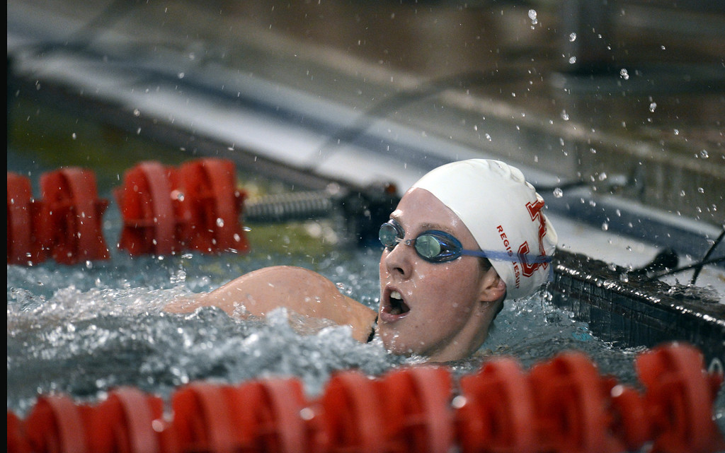 . Olympic gold medalist Missy Franklin of Regis Jesuit is in the swimming meet Regis Jesuit vs. Highlands Ranch at Regis Jesuit swimming pool on Tuesday. Aurora. CO, January 8, 2013.  Hyoung Chang, The Denver Post