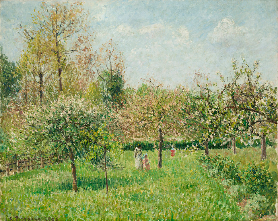 ". Camille Pissarro, ""Printemps A Eragny,\"" 1900, oil on canvas, 25.75x32.25\""  (Image provided by the Denver Art Museum)"