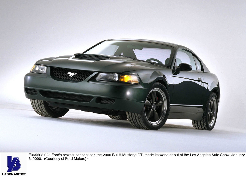 . Ford\'s Newest Concept Car, The 2000 Bullitt Mustang Gt, Made Its World Debut At The Los Angeles Auto Show, January 6, 2000. (Courtesy Of Ford Motors) (Photo By Getty Images)
