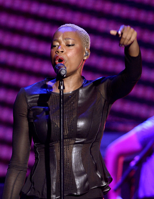 . Noelle Scaggs of Fitz and The Tantrums performs onstage at the DoSomething.org and VH1\'s 2013 Do Something Awards at Avalon on July 31, 2013 in Hollywood, California.  (Photo by Kevin Winter/Getty Images)
