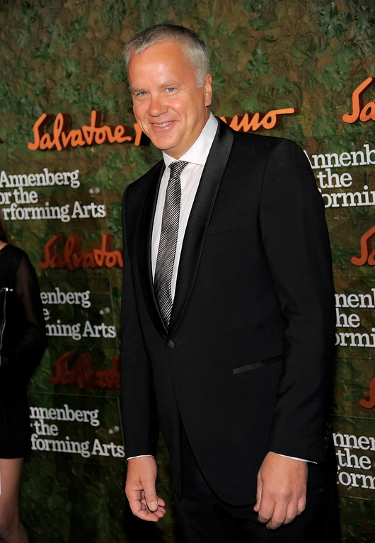 . Actor Tim Robbins arrives at the Wallis Annenberg Center for the Performing Arts Inaugural Gala on Thursday, Oct. 17, 2013, in Beverly Hills, Calif. (Photo by Chris Pizzello/Invision/AP)