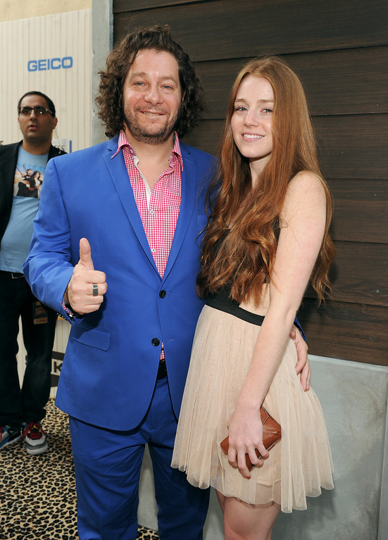 . Jeffrey Ross, left, and a guest arrive at Spike TV\'s Guys Choice Awards at Sony Pictures Studios on Saturday, June 8, 2013, in Culver City, Calif. (Photo by Frank Micelotta/Invision/AP)