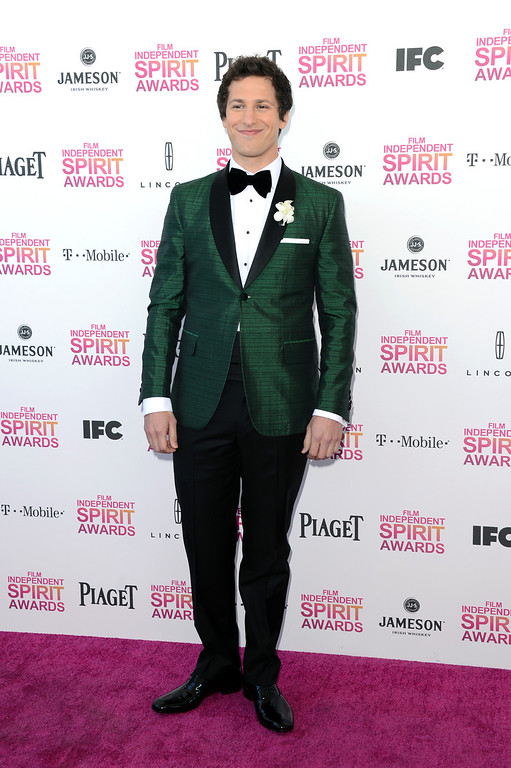 . SANTA MONICA, CA - FEBRUARY 23:  Host Andy Samberg attends the 2013 Film Independent Spirit Awards at Santa Monica Beach on February 23, 2013 in Santa Monica, California.  (Photo by Jason Merritt/Getty Images)