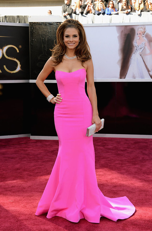 . TV personality Maria Menounos attends the Oscars at Hollywood & Highland Center on February 24, 2013 in Hollywood, California.  (Photo by Jason Merritt/Getty Images)