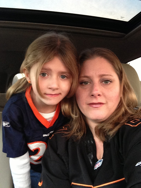 . Photo Name: Broncos Girls Me and my daughter, Morgan in our Broncos gear. Go Broncos!! Theresa Martinez