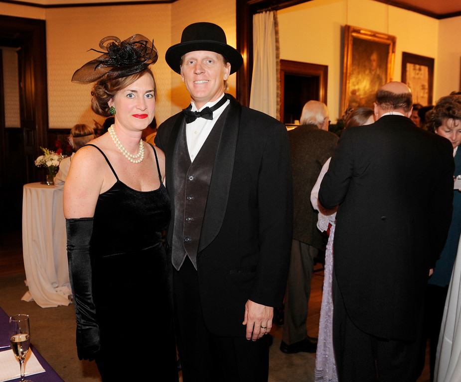 . Susan and Drew Armbruster came dressed for the event. The Rocky Mountain PBS Masterpiece Costume Ball attracted more than 200 fans of the Downton Abbey television drama Saturday night, January 4, 2014 at the Grant Humphreys Mansion. The show\'s new season starts Sunday night. The event also included a silent auction, historical displays, and a costume contest. Photo By Karl Gehring/The Denver Post