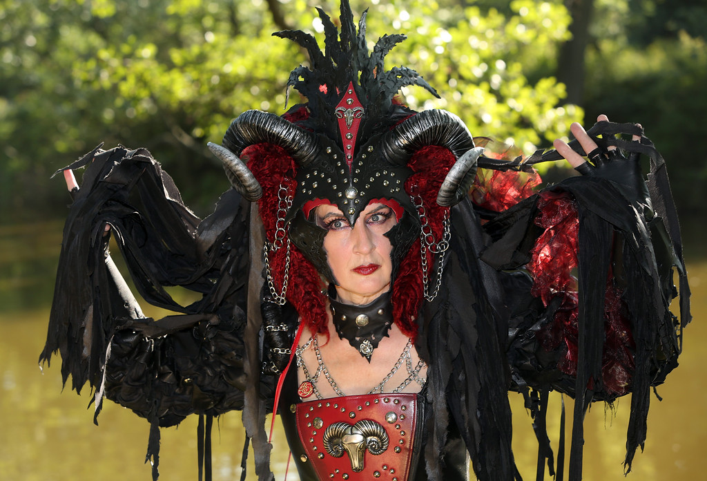 . A Gothic enthusiast poses during the annual Wave-Gotik-Treffen music festival on June 6, 2014 in Leipzig, Germany.  (Photo by Adam Berry/Getty Images)