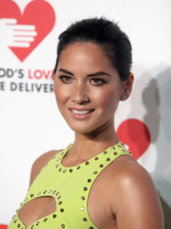 . Actress Olivia Munn attends the 2013 Golden Heart Awards Gala on Wednesday, Oct. 16, 2013, in New York. (Photo by Andy Kropa/Invision/AP)