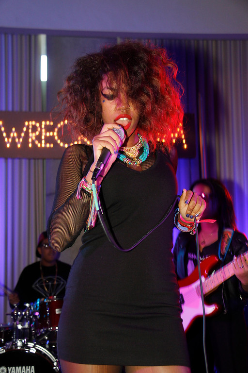 . Bayli of The Skins performs at The Oakley and Wreckroom musical presentation at The W Hotel on March 15, 2013 in Austin, Texas. (Photo by Rahav Segev/Getty Images for Oakley)