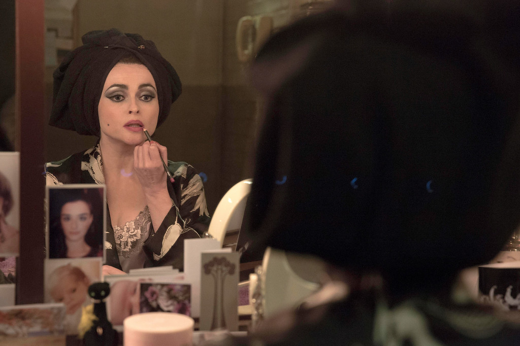 ". This image released by BBC America shows Helena Bonham Carter as Elizabeth Taylor in a scene from ""Burton and Taylor.\"" Carter was nominated for an Emmy Award for best actress in a miniseries or movie on Thursday, July 10, 2014. The 66th Primetime Emmy Awards will be presented Aug. 25 at the Nokia Theatre in Los Angeles. (AP Photo/BBC America, Leah Gallo)"