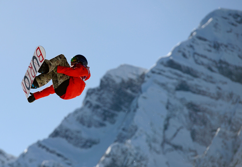 . Belgium\'s Seppe Smits competes in the Men\'s Snowboard Slopestyle qualification at the Rosa Khutor Extreme Park during the Sochi Winter Olympics on February 6, 2014.    AFP PHOTO / JAVIER SORIANO/AFP/Getty Images