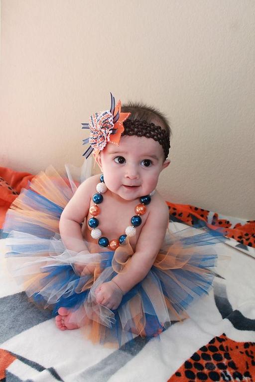 . 6-Month Old Jessa Martinez showing her Bronco Spirit!