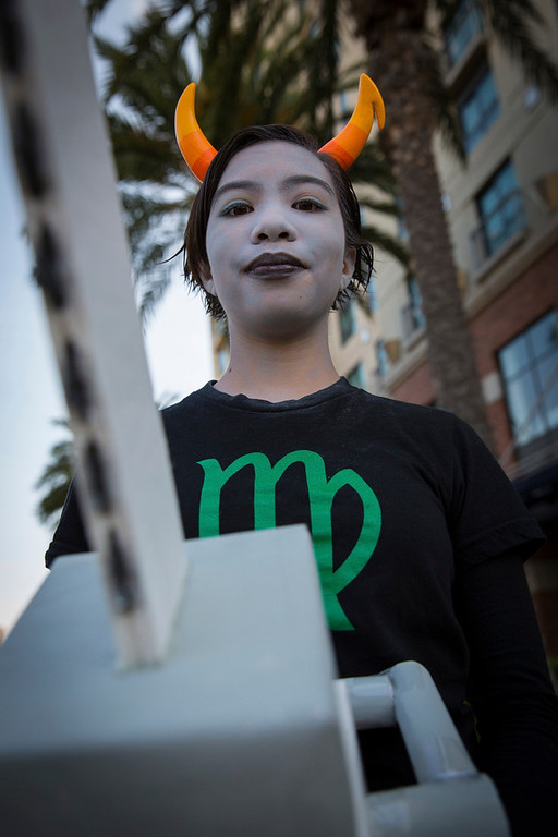 ". Cosplayer Julia Gurrola poses while dressed as a character from webcomic ""Homestuck\"" during the 2013 San Diego Comic-Con (SDCC) International in San Diego, California July 18, 2013. REUTERS/Fred Greaves"