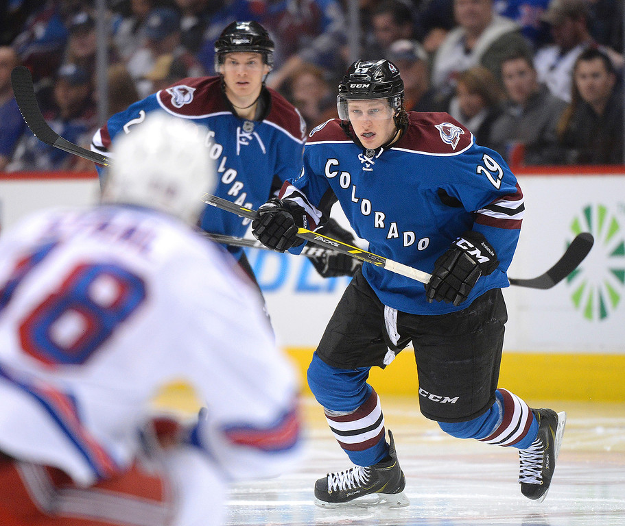 . Colorado center Nathan MacKinnon skated in the third period.   (Photo by Karl Gehring/The Denver Post)