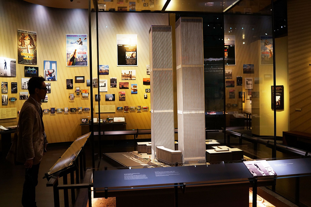 . The only World Trade Center presentation model still in existence is viewed during a preview of the National September 11 Memorial Museum on May 14, 2014 in New York City. (Photo by Spencer Platt/Getty Images)