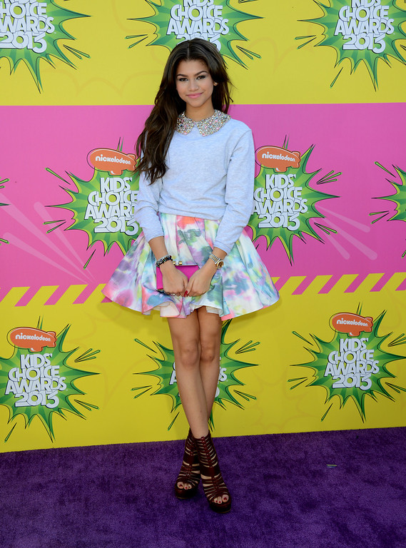 . Actress Zendaya arrives at the 26th annual Nickelodeon\'s Kids\' Choice Awards on Saturday, March 23, 2013, in Los Angeles. (Photo by Jordan Strauss/Invision/AP)
