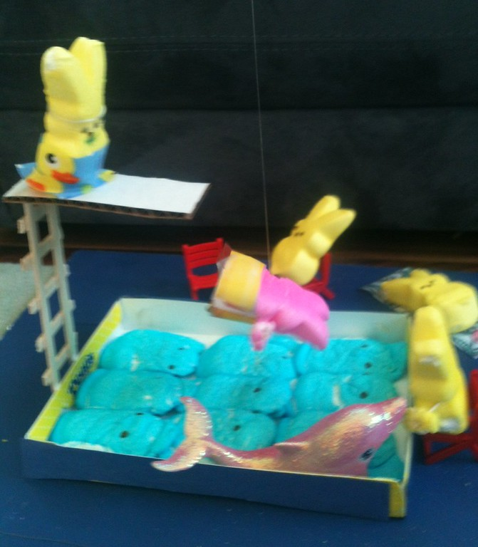 . High Dive into a Pool of Peeps