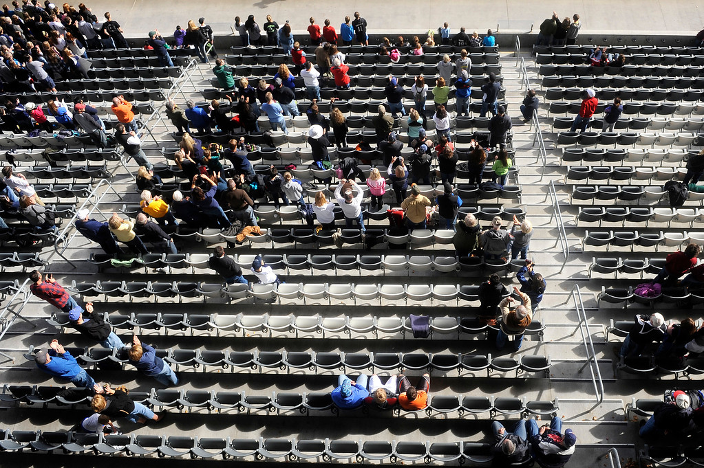 . DENVER CO: Nov. 9, 2013  Fans fill the stadium at the 4A State Championship at Dick\'s Sporting Goods Park on Nov. 9, 2013.   (Photo By Erin Hull/The Denver Post)