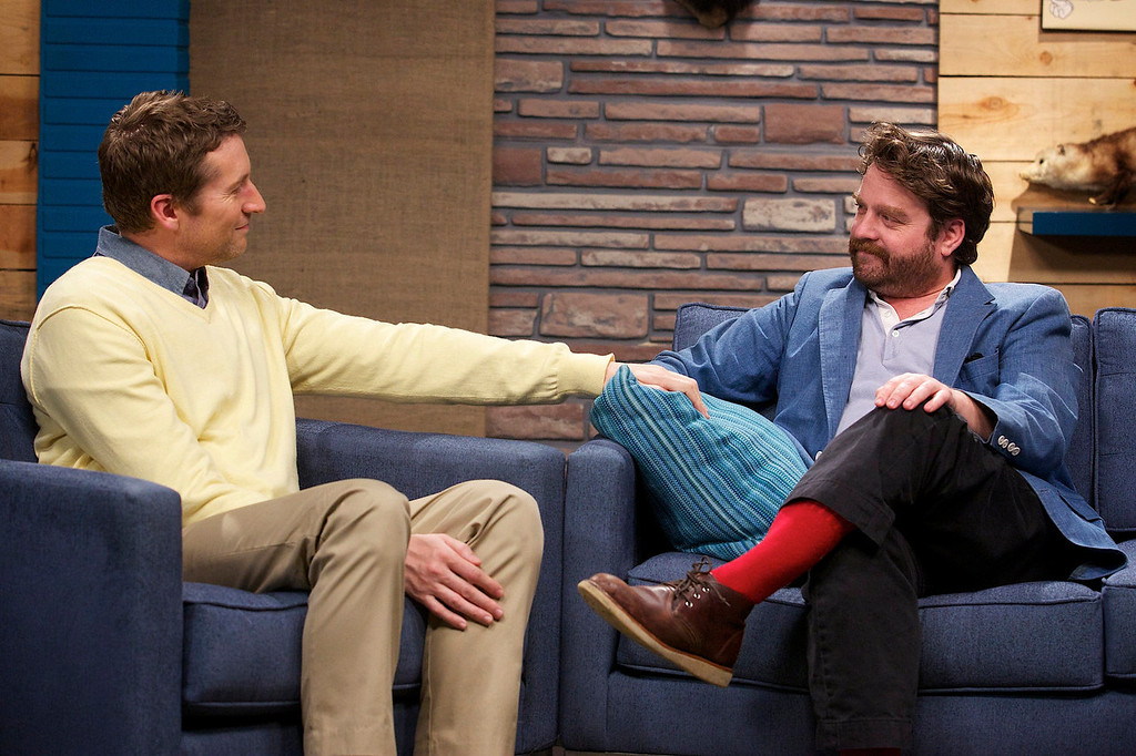 """. Guest Zach Galifianakis discusses his place in the pantheon of comic actors in IFC\'s \""""Comedy Bang! Bang!\""""  (Photo by Chris Ragazzo/IFC)"""