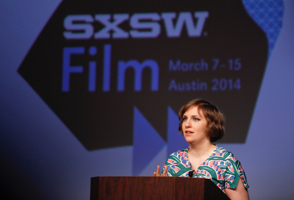 . Lena Dunham gives a keynote during the SXSW Film Festival on Monday, March 10, 2014, in Austin, Texas. (Photo by Jack Plunkett/Invision/AP)