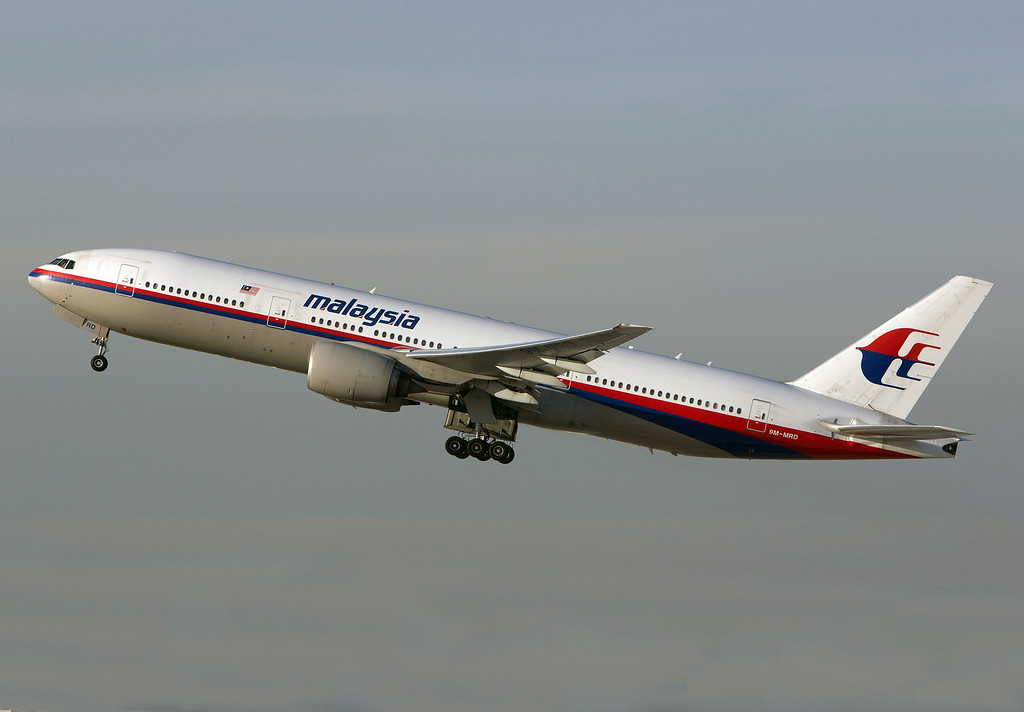 . In this Nov. 15, 2012 photo, a Malaysia Airlines Boeing 777-200 takes off from Los Angeles International Airport in Los Angeles.  The plane, with the tail number 9M-MRD, is the same aircraft that was heading from Amsterdam to Kuala Lumpur on Thursday, July 17, 2014 when it was shot down near the Ukraine Russia border, according to Anton Gerashenko, an adviser to Ukraine\'s interior minister. (AP Photo/JoePriesAviation.net)