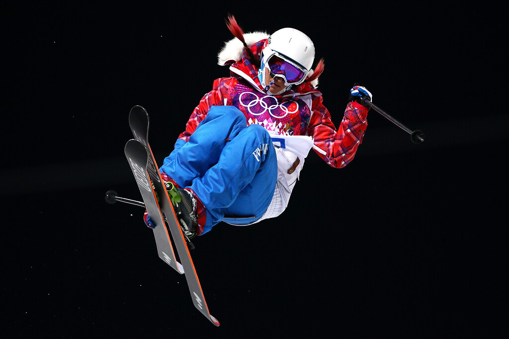 . Marie Martinod of France competes in the Freestyle Skiing Ladies\' Ski Halfpipe Qualification on day thirteen of the 2014 Winter Olympics at Rosa Khutor Extreme Park on February 20, 2014 in Sochi, Russia.  (Photo by Cameron Spencer/Getty Images)